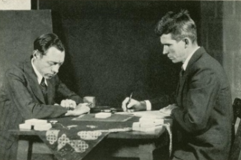 Hubert Pearce with J. B. Rhine (1934, © Wikimedia)
